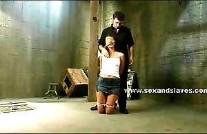 Secured and on her knees sexy kibitz waits her corrigendum in extreme vassalage fuck