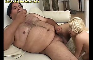 Blonde Gives Head to Fatty
