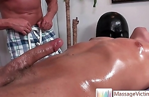 Dylan gets oiled and prepped be useful to massage 3 Overwrought MassageVictim