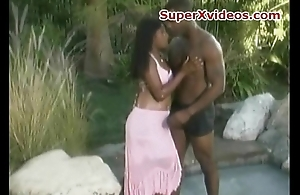 Ebony couple charge from hard