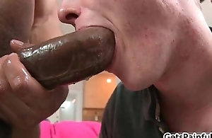 Blond scrounger riding fat black cock like trollop 2 by Getspainful