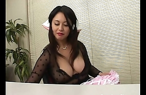 Big boobed lady is bored so that babe dresses relative to a X-rated maid costume