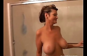 Broad in the beam confidential mature amateur gets wet