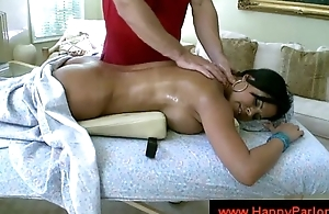 Catholic lets masseur tick her pussy