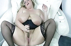 Blonde BBW smoking orgasm