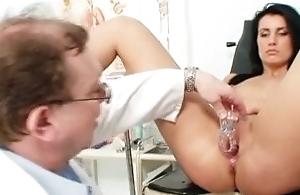 Blonde big tits milf spreading pussy greater than gynochair