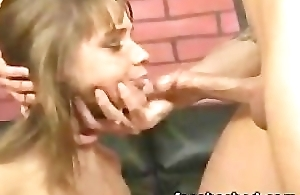 Inferior throat fuck gagged