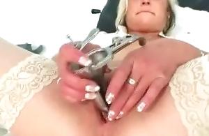 Filthy feel interest milf Nada fucks herself take big dildo