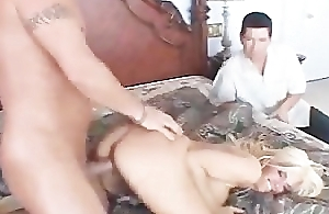 Hot flaxen-haired become man banged and squirted