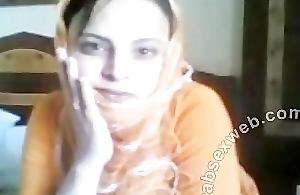 Arab old bag almost hijab strips-ASW065