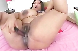 Huge Titty Black BBW Oils Up Will not hear of Boobs added to Pussy