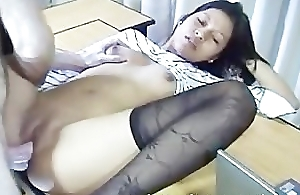 Joan Filipino Amateur Student Get's Hammered On Her Dissemble Desk