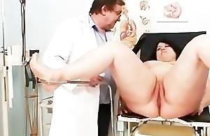 Big confidential fat materfamilias Rosana gyno doctor examination