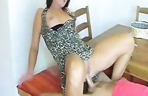 Hot German Chick Smoking Point of departure and Handjob