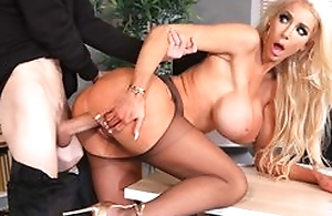 Colossal fuckdoll roughly popular silicone interior gets her cunthole drilled