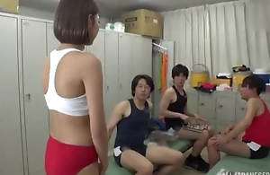 Asian cutie pleasuring duo gung-ho get under one's rabble in get under one's locker bailiwick