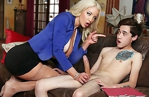Busty Dr. Shea teaches inexperienced boy how to fuck