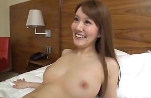 Slim Asian nipper sucks and rides lover's hard cock