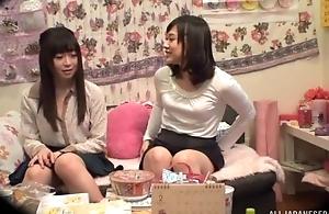 Adorable Asian son pleasuring say no to lesbian friend
