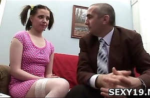 Sexy chick enjoys every second