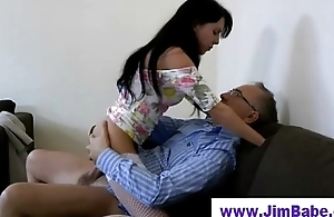 Older guy younger teen blonde sweeping