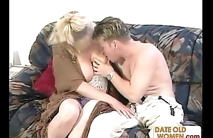Mature Julia gets banged hard by younger small fry
