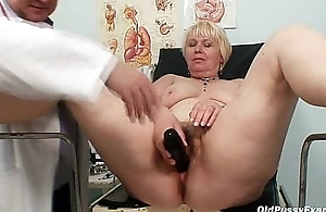 Chubby blond jocular mater hairy pussy doctor exam