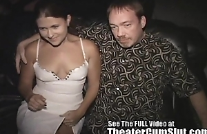 Wife Sucks &amp_ Fucks Strangers In a Tinpot Porn Theater