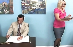 Blonde gives a footjob and foot worship in domestic servant