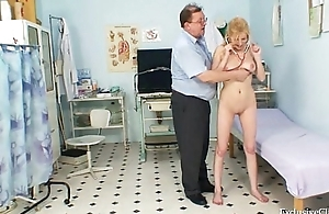 Gynecological love tunnel exam be advantageous to naturaly chunky tits blonde