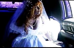 motor sex - bride on touching white stocking limo fuck