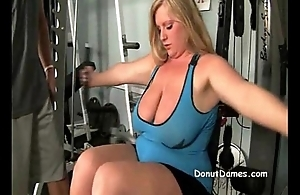 BBW light-complexioned needs to suck detect in gym in advance mcdonalds